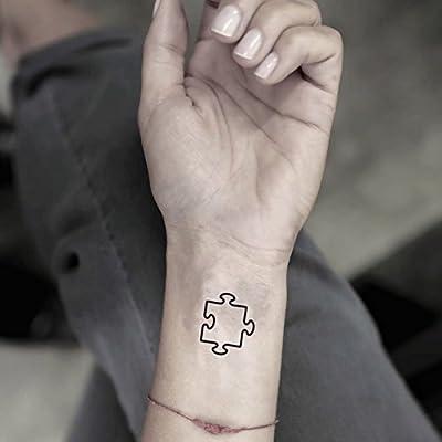 Tatuaje Temporal de Pieza de puzzle (4 Piezas) - www.ohmytat.com ...