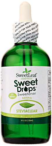 SweetLeaf Sweet Drops Liquid Stevia Sweetener, SteviaClear, 4 Ounce