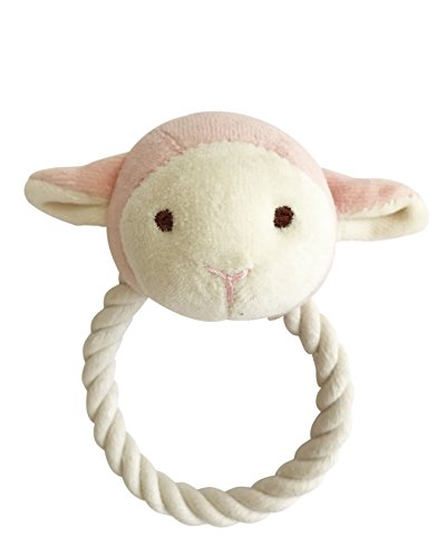 Simply Fido 23900 Beginnings Lolly Lamb Rope Toy, Pink, Small