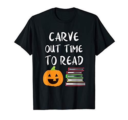 Teachers Halloween Shirt Literacy Reading Books Pumpkin