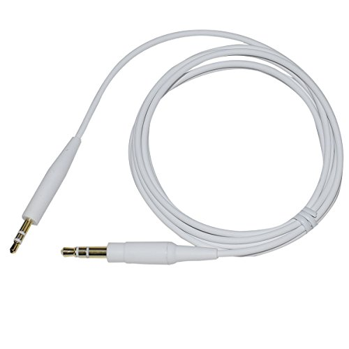 Replacement Headphone Audio Cable Cord Line for Bose SoundTrue Soundlink QC25 QC35 OE2 Headphones (White)