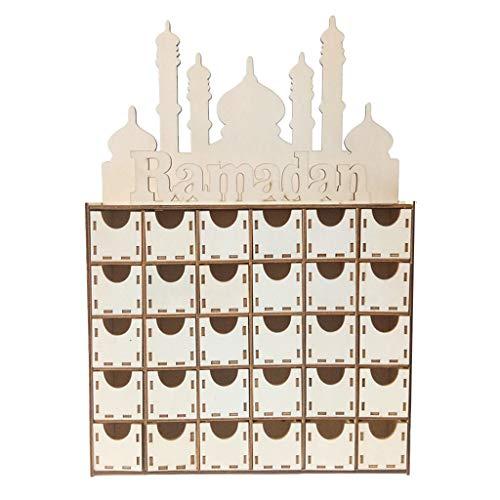 Roisay Ramadan Happy Eid Mubarak Paper Chest of Drawers Decor Muslim Islam Party Supply Decorator 3 Drawer Chest