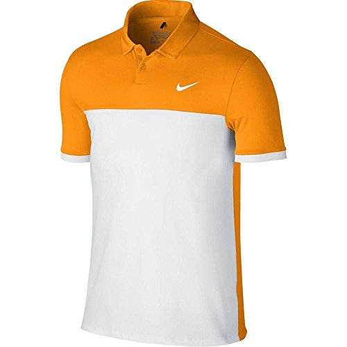 (Nike Golf CLOSEOUT Men's Icon Color Block Golf Polo (Vivid Orange) 725527-868)