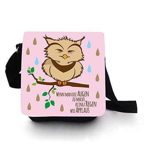 Eulentasche Tasche Kindertasche Handtasche mit Eule Pietri rosa Regen Applaus kt90