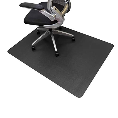 Resilia Office Desk Chair Mat - PVC Mat for Hard Floor Protection, Black, 36 Inches x 48 Inches, Made in The USA