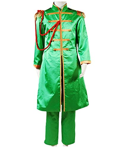 TISEA Adult Mens Band Club Cosplay Costume Halloween Suit (Custom Made, Green) ()