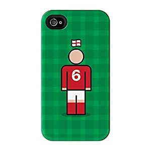 England 6 Full Wrap High Quality 3D Printed Case for iPhone 4 / 4s by Blunt Football International + FREE Crystal Clear Screen Protector