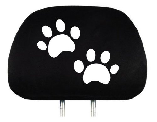 Yupbizauto New Interchangeable Car Seat Headrest Cover Universal Fit for Cars Vans Trucks - One Piece (Paws)