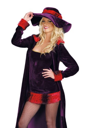 Girl Pimp Costume (Dreamgirl Ho, Purple, Small)