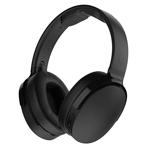 Skullcandy Hesh 3 Bluetooth Wireless Over-Ear Headphones with Microphone, Rapid Charge 22-Hour Battery, Foldable, Memory Foam Ear Cushions for Comfortable All-Day Fit, Black (Best Skullcandy Headphones For Bass)
