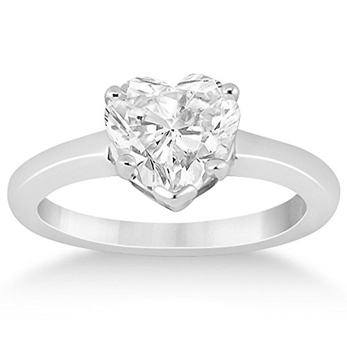 re Diamond Engagement Ring Setting with 5 Prongs in Palladium (Hearts Ring Palladium Ring)