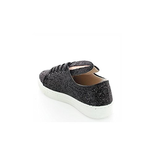 Ideal Lapin Shoes Baskets Effet Noir Paula pailleté qHRpO1