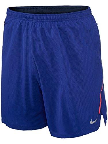 Nike Mens 7 Phenom 2 in 1 Shorts - Deep Royal Blue/Obsidian/Silver - XL
