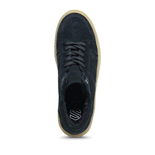 Hohe Sneaker mit Plateausohle schwarz
