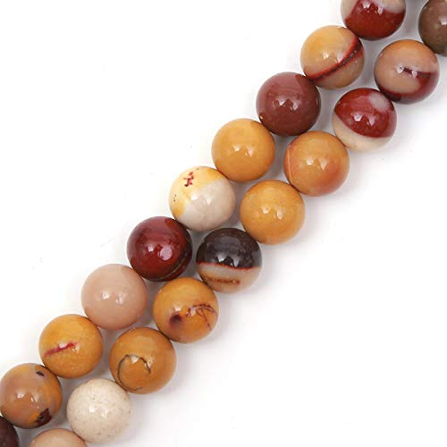 (Genuine Natural Stone Beads Mookaite Jasper Round Loose Gemstone 8mm 1 Strand 15.5