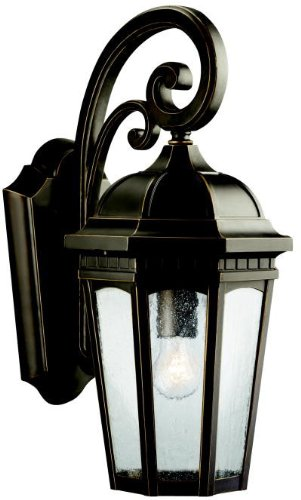 Kichler 9033RZ Courtyard Outdoor Wall 1-Light, Rubbed - Courtyard Wall Mount Outdoor
