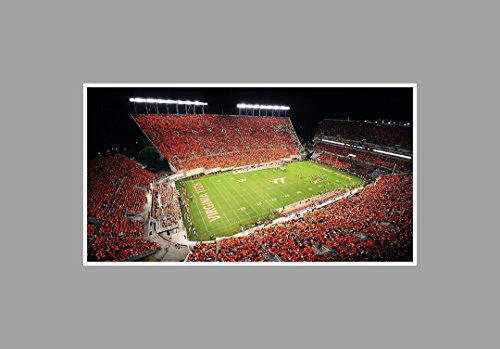 ArtsyCanvas Virginia Tech Hokies - College Football Stadium - 36x20 Matte Poster Print Wall Art (Best College Football Stadiums)