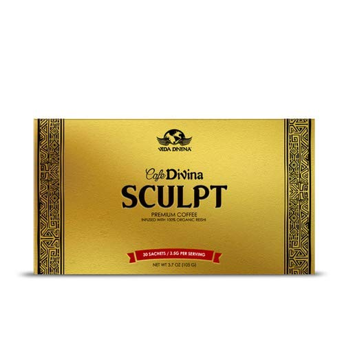 Lose Weight with Cafe Divina Sculpt Premium Coffee,Sculpt Pairs Ganoderma lucidium and Garcinia Cambogia to Help You Speed up Your Body s Fat-Burning processes,Control Appetite, 30 Individual Sachets