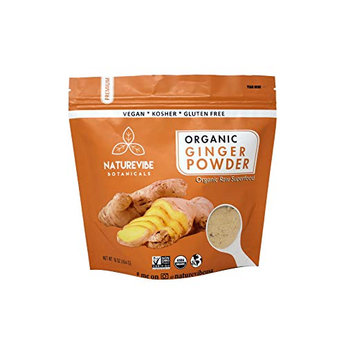 Naturevibe Botanicals Organic Ginger Root Powder-2 lbs (2 pack of 1lbs each), Zingiber officinale Roscoe | Non-GMO verified, Gluten Free and Kosher ()