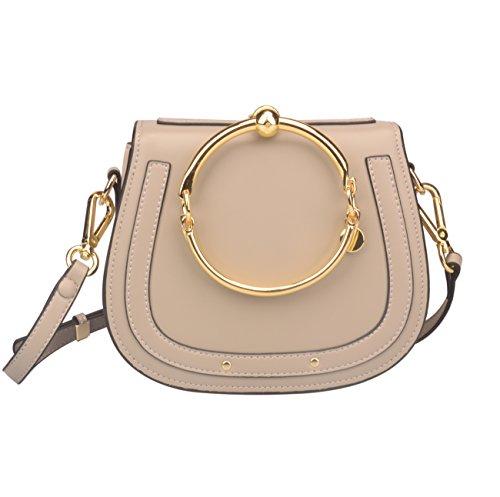 Ainifeel Women's Leather Handbags With Bracelet Handle On Clearance (Chole Bag)