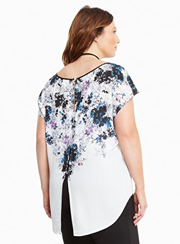 Floral Print Georgette Button Back Top