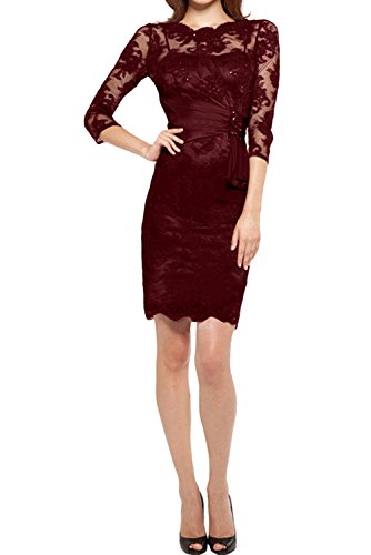 mujer Vestido Estuche para borgoña Topkleider TwtfqnqY
