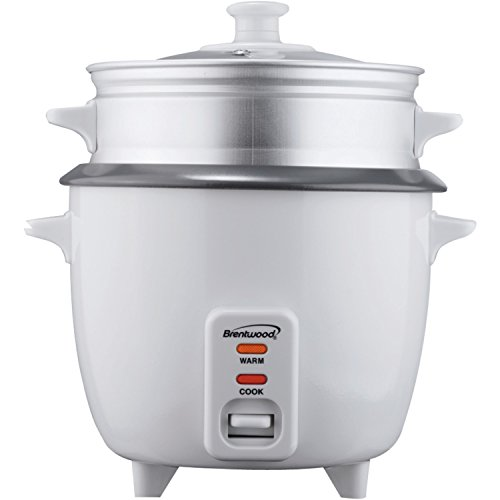 Brentwood 5 Cup Rice Cooker/Non-Stick With Steamer Ts-600s TS-600S