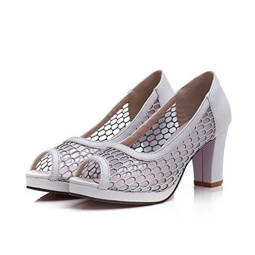 Adee Mujer Pantalones Sandalias de charol sandalias blanco