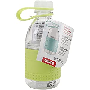 Copco Hydration Bottle, 10-ounce Mini Reusable Water Bottle, 2 Pack, Coral & Lime