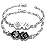 EXO alloy bracelet pair - Black and White