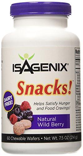 Isagenix Snacks! 60 Natural Wild Berry Chewable Wafers  7.5 oz (214 g)