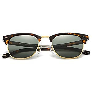 Clubmaster sunglasses for men & women, 2018 Innovative Design, High-Definition lens, 100% UVA/UVB protection