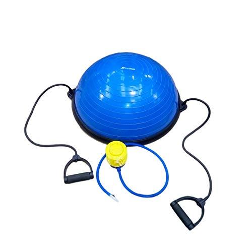 One Size CloverFitness Bosu Balance Step Balance Device for Yoga Blue Adults Unisex