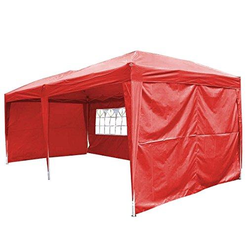 Cheap Giantex 10'x20' Ez POP up Wedding Party Tent Folding Gazebo Beach Canopy W/carry Bag (Red)