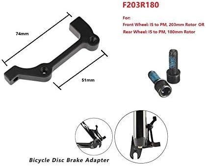 />IS adapter Front 180//Rear 160mm Black JUIN GG-PI02 Bike PM Post Mount Caliper