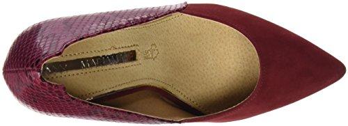 Mariamare 61293, Zapatos De Tacón, Mujer Rojo (Peach Burdeos / Serpiente Burdeos)