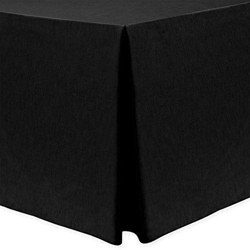 Ultimate Textile -2 Pack- Shantung - Majestic 4 ft. Fitted Tablecloth - Fits 24 x 48-Inch Rectangular Tables 36