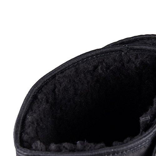 Star Noir Flocons Avec Pour Velcro Bottes Trekk Femme Hsm Thermique Fermeture axf7xq1