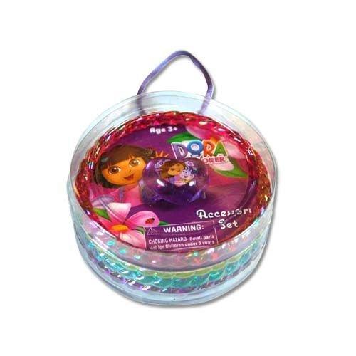 Dora the Explorer Bangle Bracelet and Heart Shaped Ring 5 Piece Jewelry Set