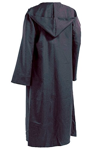 SURPCOS Tunic Hooded Robe Cloak Knight Full Length Cosplay Costume Cape (Adult, Grey)