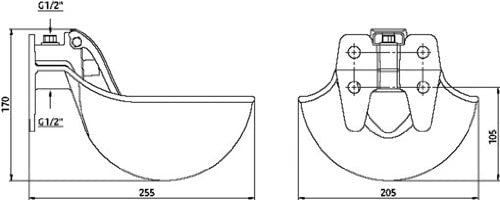 Kerbl Abreuvoir avec Poussoir en PVC pour Cheval