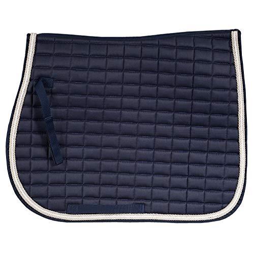 Horze Dressage Saddle Pad Peacoat Dark Blue Full