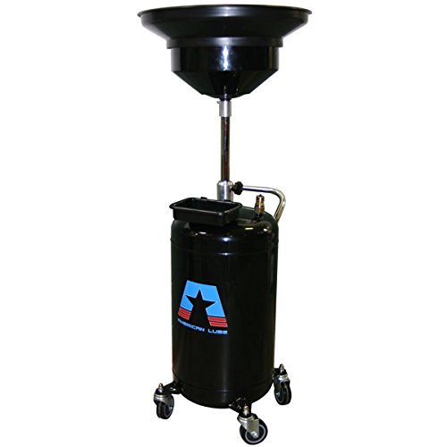 (American Lubrication Equipment TIM-315-COMP2 Portable Conventional Waste Oil Drain, 24 gal, 23.8 gal Steel Tank, 15-3/4