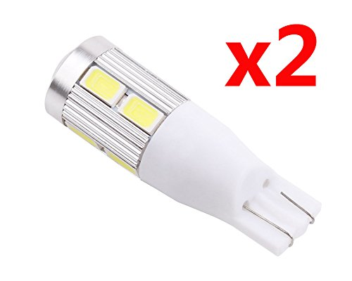 S&D Promotion!!! 2pcs/One Pair T10 SAMSUNG 5630 chip Emitter High Power 10 LED Projector Turn Tail Signal DRL Light Bulbs Xenon White T15 168 921 t10 w5w