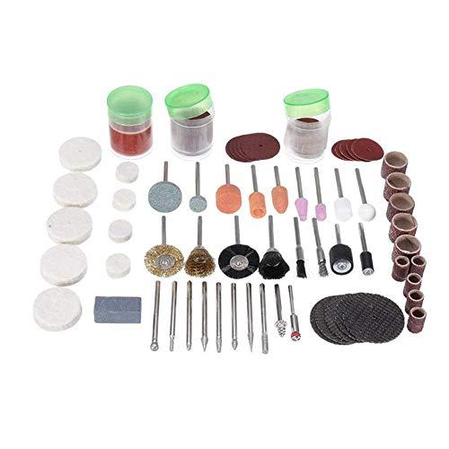 CHUNSHENN 研磨剤、ドレメルシャンク回転工具アクセサリーのための164pcs 1/8インチセット研磨切断研削ビット 研磨用 研磨工具
