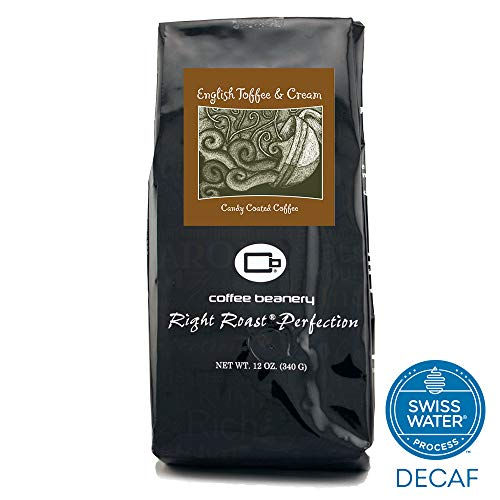Coffee Beanery English Toffee and Cream Flavored Coffee SWP Decaf 12 oz. (Automatic Drip)