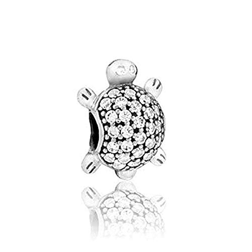 (Romántico Amor Fit Pandora Bracelets Devoted Puppy Dog/Lucky Elephant/Curious Cat/Sea Turtle Charms Animal Pet Beads)