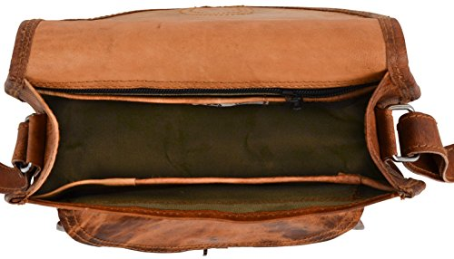spalla Cuoio Vintage a spalla Marrone Party M23 Disco mano tracolla Leder a Gusti ''Romy'' Borsetta nature Borsa wPRn7qI