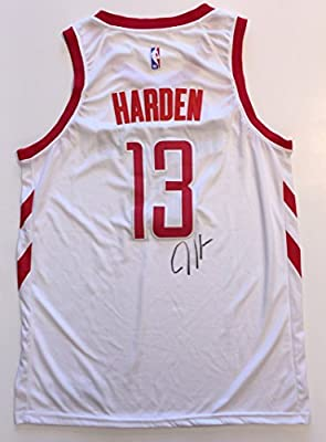 8447d55d8 James Harden Autographed Rockets Jersey. BAS COA at Amazon s Sports ...
