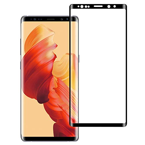 BNCHI Galaxy Note 9 Screen Protector【Case Friendly】 3D Full Screen Coverage Tempered Glass [Bubble-Free] [9H Hardness] [Anti-Scratch] (Black) by BNCHI